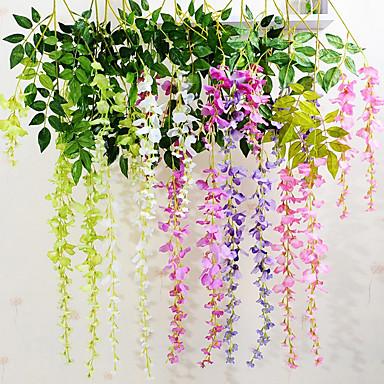 Kunstige blomster 1 Gren Moderne Stil Lilla Veggblomst