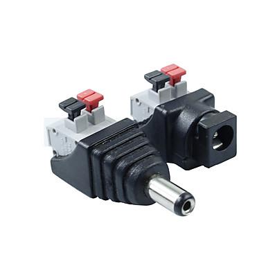 5pair 2,1 x 5,5 mm DC power mandlige + hunstik jack adapter stik stik til LED strip lys