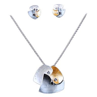 Korusetti Personoitu Gold Plated Metalliseos Kaulakorut Korvakorut Käyttötarkoitus Häät Party Päivittäin Kausaliteetti Häälahjaksi