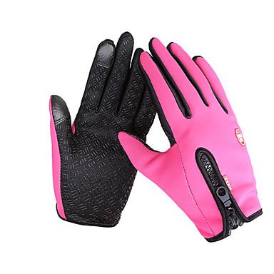 Touch-handschoenen Skihandschoenen Fietshandschoenen Heren Dames Lange Vinger Houd Warm waterdicht Winddicht Anti-ohjaimella Kangas fleece