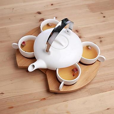 4 cup 1 koffie-apparatuur past bij de theepot