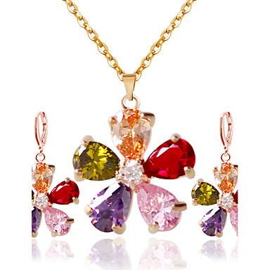 Mujer Conjunto de joyas - Incluir Collar / pendientes Arco iris Para Boda Fiesta Diario / Casual