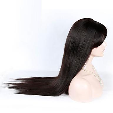 tukkuhinta brasilialainen neitsyt hiuksista silkkisen suoraan täynnä pitsiä peruukit 26 tuuman 130 tiheys hiuksista peruukit otsatukka