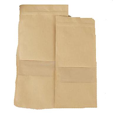 kraftpapier zakken voedsel self-transparant venster voorschrijven noten papieren zak een pakket van tien 9 * 14 * 3