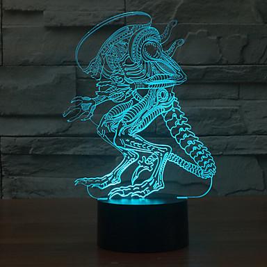 1 stk 3D natlys Dekorativ LED