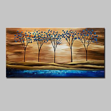 Hang-geschilderd olieverfschilderij Handgeschilderde - Bloemenmotief / Botanisch Modern Kangas