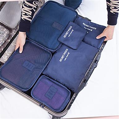 matkalaukkujen luokittelu mesh laukku paksuuntunut vaatteet järjestely kuusi erillistä sarjaa vaatteita