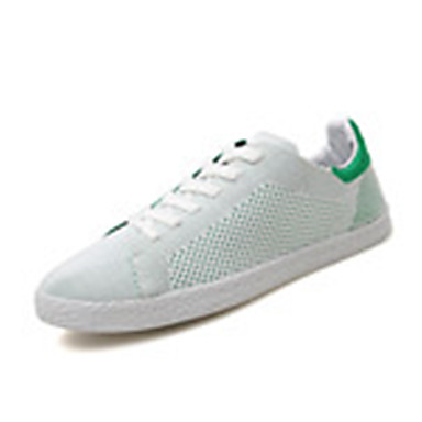 Sneakers-Tyl-Komfort-Herre-Sort Blå Rød Hvid Grå-Udendørs Fritid Sport-Flad hæl