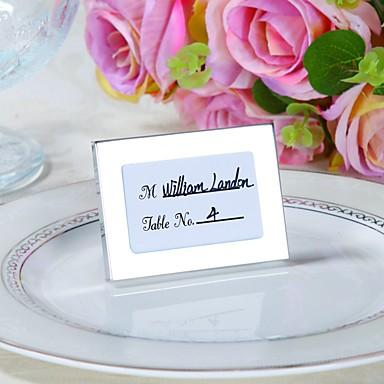 Roestvrijstaal Kaarten van de Plaats Plaats Card houders Tafelnummer Kaarten 1 Frame Stijl Geschenk Tas