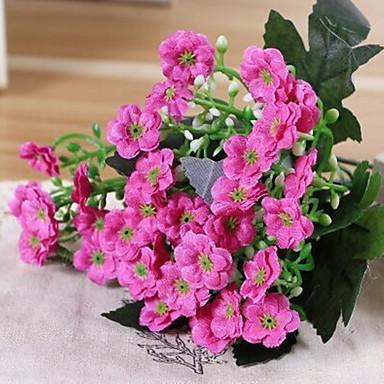 1 Ramo Seda Violeta Flor de Mesa Flores artificiais