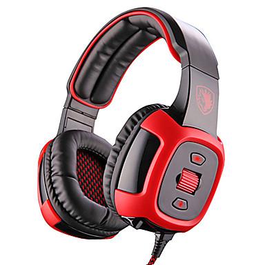 SADES SA-906i Over øre Pannebånd Med ledning Hodetelefoner dynamisk Plast Gaming øretelefon Støyisolerende Med mikrofon Med volumkontroll