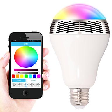 7W E26/E27 Lâmpada de LED Inteligente A90 30 SMD 5050 400-500 lm RGB Bluetooth Regulável Decorativa AC 220-240 V 1 pç