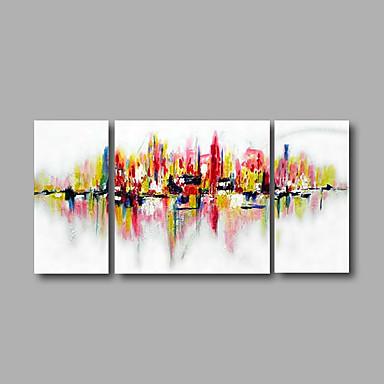 Hånd-malede Abstrakt Pop Oliemalerier,Moderne Tre Paneler Kanvas Hang-Painted Oliemaleri For Hjem Dekoration