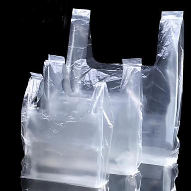 hvit gjennomsiktig plast vest bag av matemballasje poser gave emballasje poser sted kan tilpasses