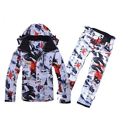 Skikleidung Hosen/Regenhose Ski/Snowboard Jacken Kleidungs-Sets/Anzüge Herrn Winterkleidung Baumwolle Polyester ArchitekturKleidung für