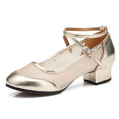Dansesko(Sort / Rød / Guld) -Kan tilpasses-Flade hæle-Damer-Dansesko / Moderne