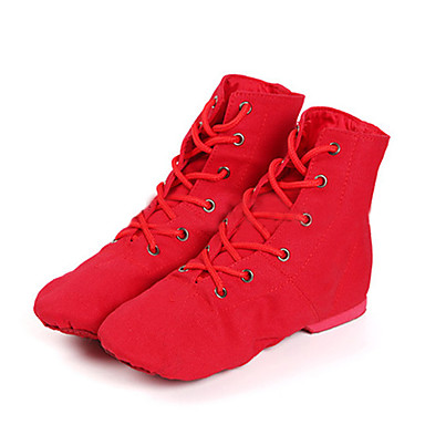 Women's Boots Jazz Shoes / Dance Boots Women's Canvas Boots / Sneaker Low Heel Customizable Dance Shoes White / Black / Red / Performance e56a60