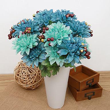 1pc 1 Ramo Poliéster / Plástico Outras Flor de Mesa Flores artificiais 14.5inch/37CM