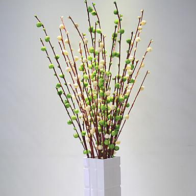 1 Ramo Poliéster Plástico Ameixa Flor de Chão Flores artificiais