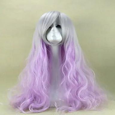 lilla cosplay paryk sex produkter syntetisk paryk lolita paryk hår parykker 80cm lang løs bølget Perruque Peruca