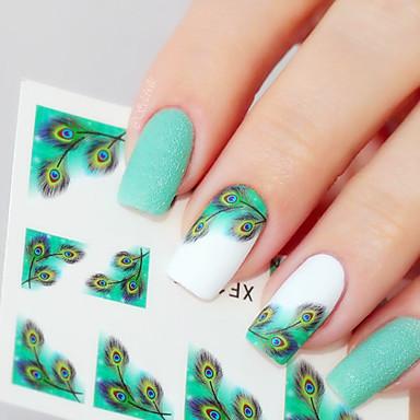 1 pcs 3D Negle Stickers Negle Smykker Negle kunst Manicure Pedicure Klassisk Daglig / PVC / Negle smykker / 3D Nail Stickers