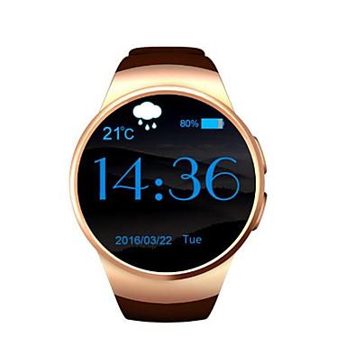 elegante reloj de la tarjeta sim micro monitor de frecuencia cardíaca pantalla circular perdido anti reloj recordatorio bluetooth