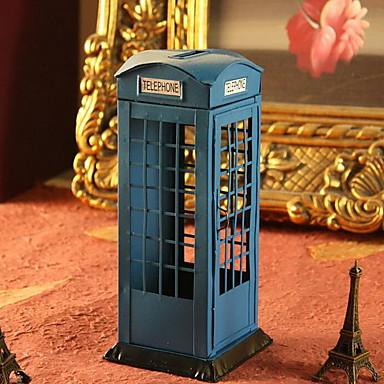 jern håndværk telefonboks sparegris ornamenter (tilfældige farver)