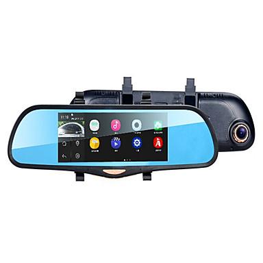 7 polegadas de tela grande lente dupla antes e depois álbum duplo espelho de visão noturna 1080p de navegação de alta definição