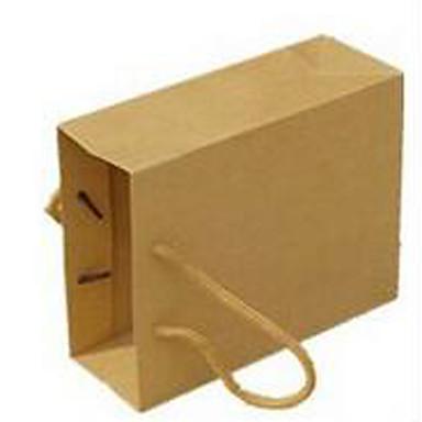 geel kraftpapier zak reclame zakken aangepaste steken een pakje van tien 15x6x12