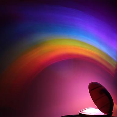 luz do arco-íris forma rgb para criança meninas levou projetor romântico projeção lâmpadas atmosfera lâmpada de luz da noite