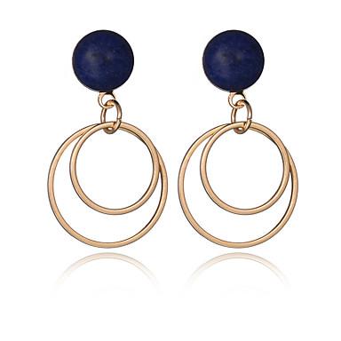 Store Øreringer Europeisk Mote Vintage uttalelse smykker Personalisert Sølvplett Gullbelagt Legering Sirkelformet Geometrisk FormGull