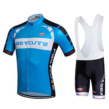 Fastcute Fahrradtrikot mit Trägerhosen Herrn Damen Unisex Kurzarm Fahhrad Bib - Shorts/Kurze radhose MIT Trägern Sweatshirt
