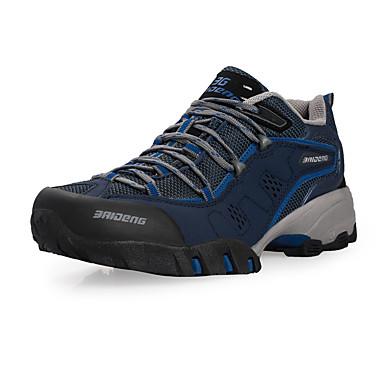 Heren Sneakers Herfst Comfortabel Leer Buiten Sleehak Veters Blauw / Groen / Grijs Trektochten