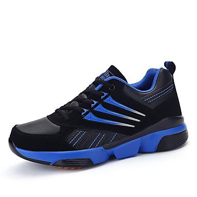 Sneakers-PU-Komfort-Herre-Sort Blå Rød Marineblå-Fritid-Flad hæl