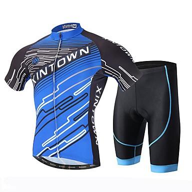 XINTOWN Cykeltrøje og shorts Herre Kortærmet Cykel Trøje Shorts Hurtigtørrende Ultraviolet Resistent Åndbart 3D Måtte Svedreducerende