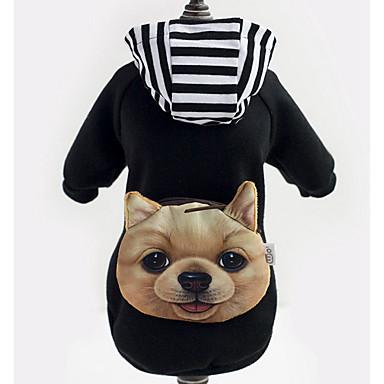 Hund Hættetrøjer Hundetøj Afslappet/Hverdag Dyr Sort Kostume For kæledyr