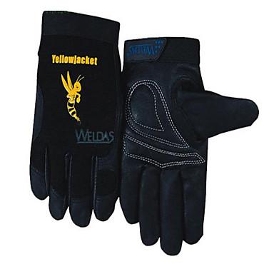 wei Teshi 10-2660 maskinarbejdere kort svinelæder handsker arbejdskraft beskyttelse fin og slidstærk anti-slip kørsel størrelse l