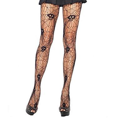 Novia fantasmal Calcetines y Medias Mujer Halloween Festival / Celebración Disfraces de Halloween Negro Retazos