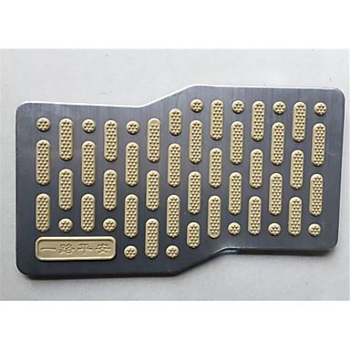 pedal de cabelo esteira de couro pé anti-derrapante pedal de aço inoxidável anel de arame