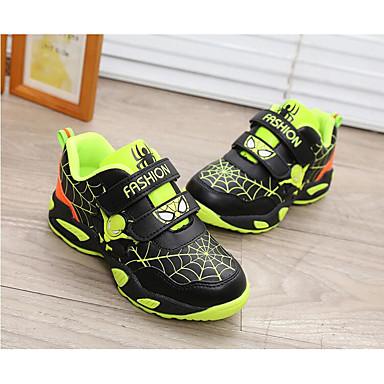 Unissex-Tênis-Conforto-Rasteiro-Azul Verde Vermelho-Couro Ecológico-Ar-Livre Para Esporte Casual