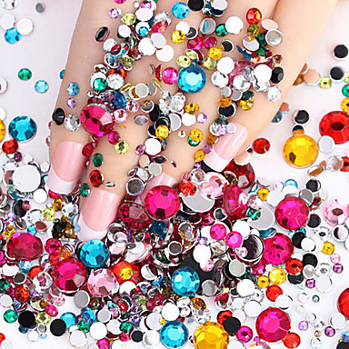 Недорогие Все для маникюра-2000 pcs Стразы для ногтей маникюр Маникюр педикюр Повседневные блестит / Мода / Украшения для ногтей / ABS