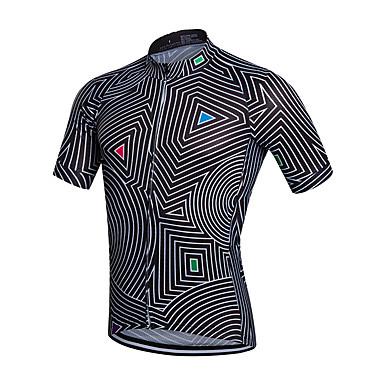 Fastcute Heren Korte mouw Wielrenshirt Fietsen Shirt, Sneldrogend, Ademend, Zweetafvoerend Coolmax®