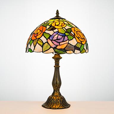 Tiffany Rustikk/ Hytte Bue Skrivebordslampe Til Harpiks 110-120V 220-240V