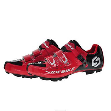 SIDEBIKE Mountain bike cipők Szénszál Párnázás Kerékpározás Fekete   vörös  Férfi Biciklis cipők   Lélegző háló a56a9edf5a