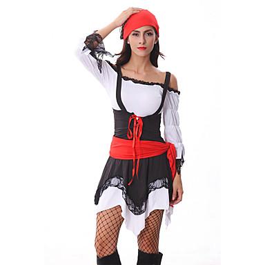 kostuums Film- & TV-themakostuums Halloween Wit / Zwart Patchwork Textiel Binnenwerk Kleding / Meer Accessoires