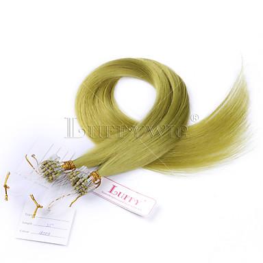 groene kleur rechte micro loop human hair extensions brazilian micro loop ring verbindt human hair extensions