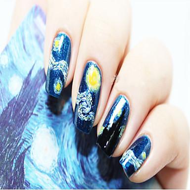 1 pcs Brillante Etiqueta engomada de la transferencia arte de uñas Manicura pedicura Moda Diario