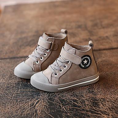 Sneakers-LæderUnisex-Sort Grå-Fritid-Flad hæl