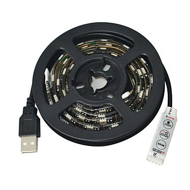 JIAWEN Fleksible LED-lysstriper 60 LED RGB Kuttbar Vanntett Selvklebende Passer for kjøretøy DC 5 V DC5