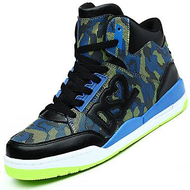 Sneakers-PU-Komfort-Herre-Blå Rød Hvid-Udendørs Fritid Sport-Lav hæl